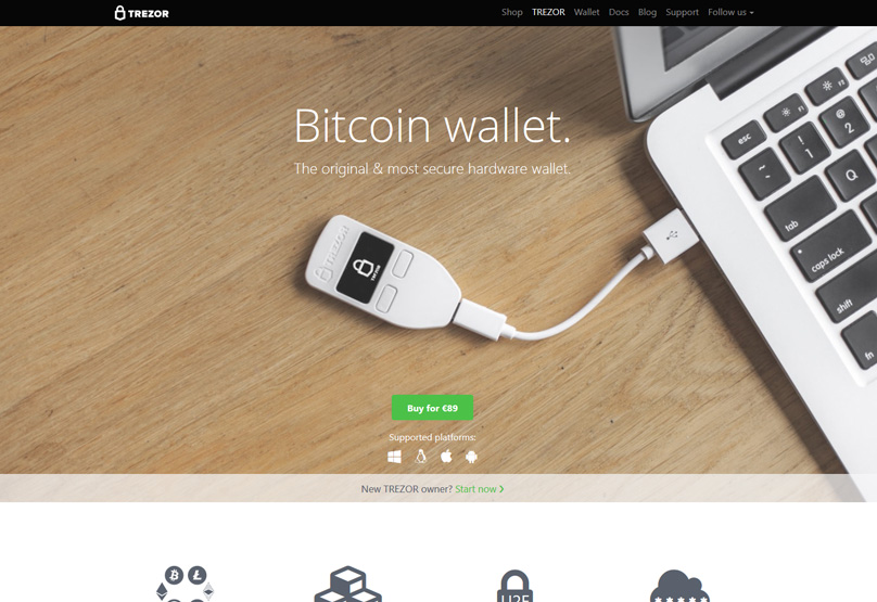 The Trezor Hardware Wallet Is A That Can Be Used For Storing Number Of Currencies Including Bitcoin Litecoin And Ether
