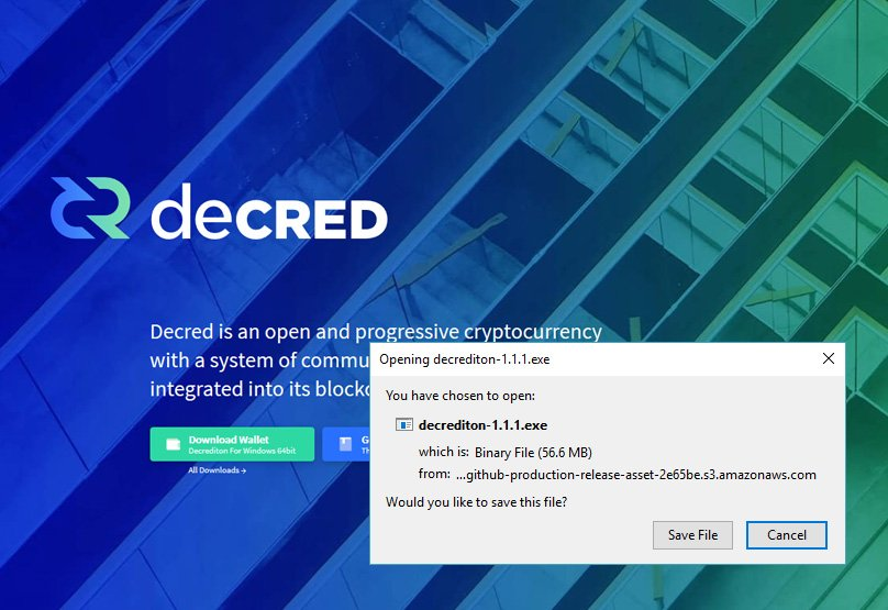 Download Decred Wallet
