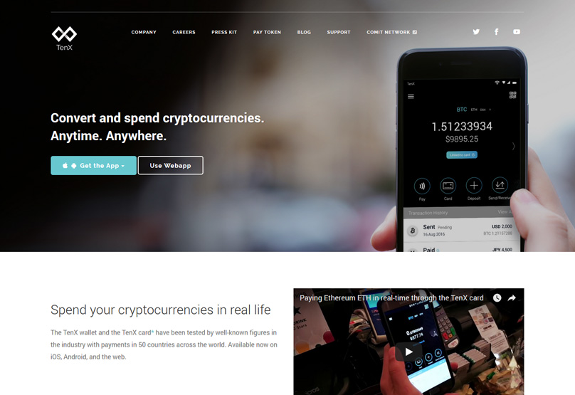 TenX Website