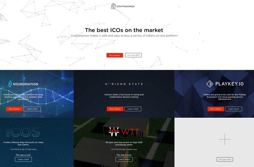 Cryptonomos Website