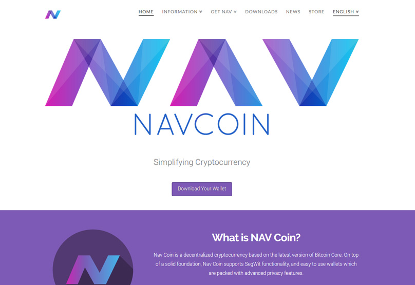 Nav Coin Website