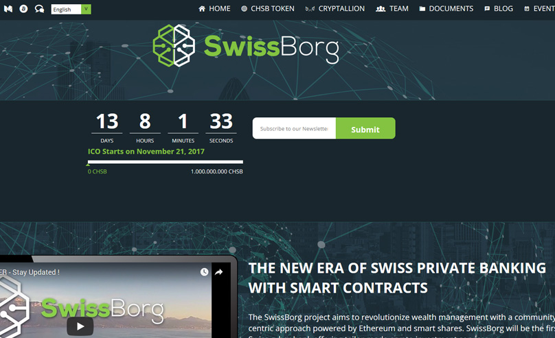 Swissborg Website
