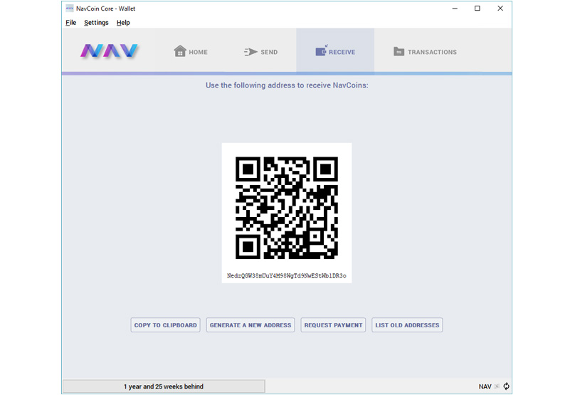 Receive Nav Coins