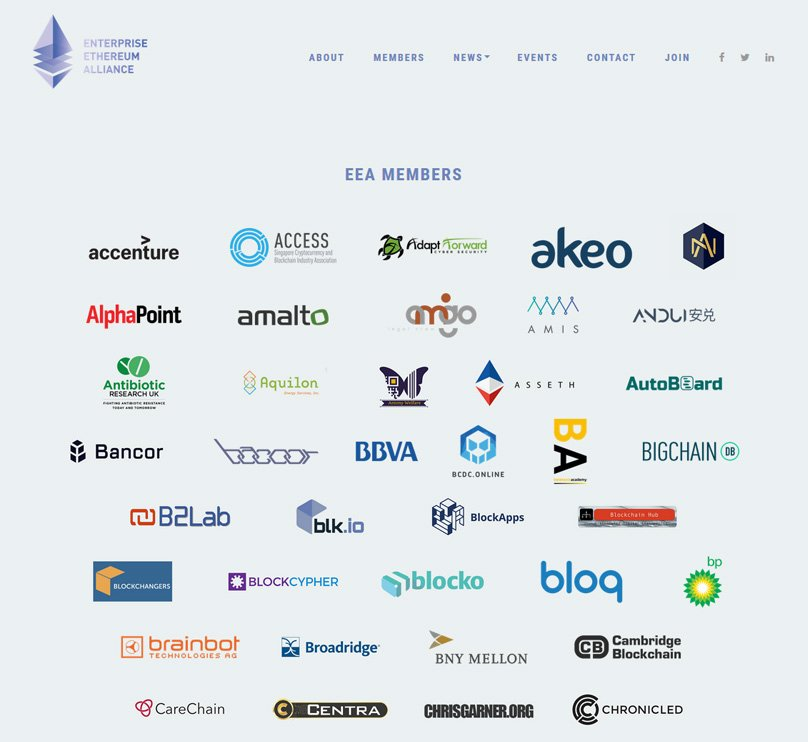 Alliance Ethereum Entreprise