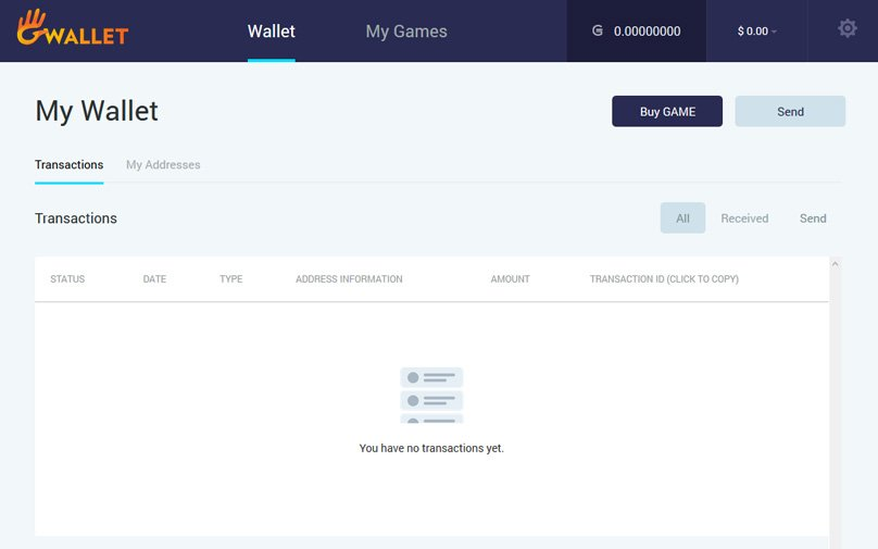 Game Credits Wallet