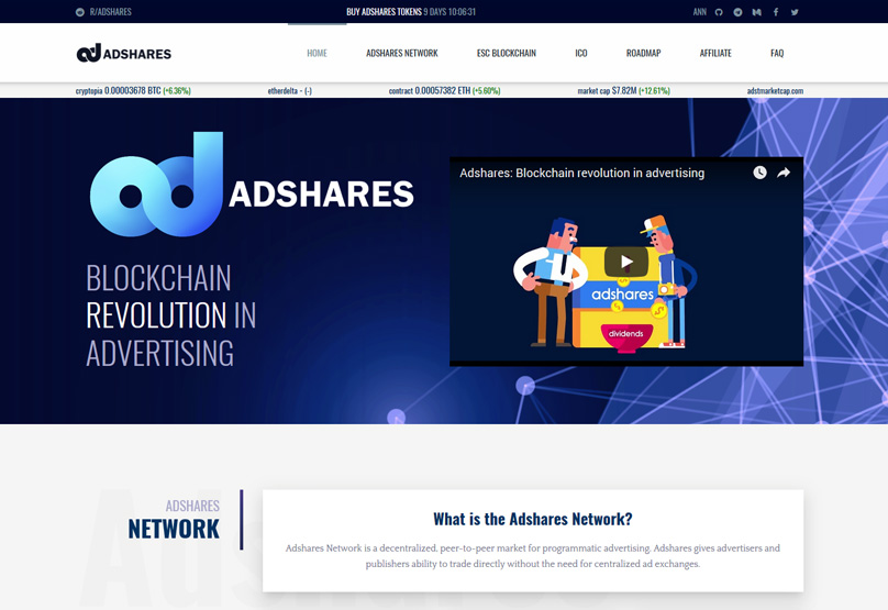 AdShares Website