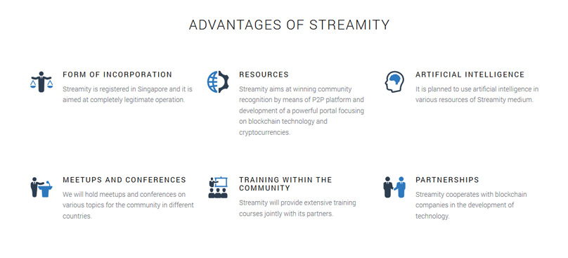 Streamity Advantages