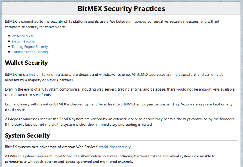 BitMex Security