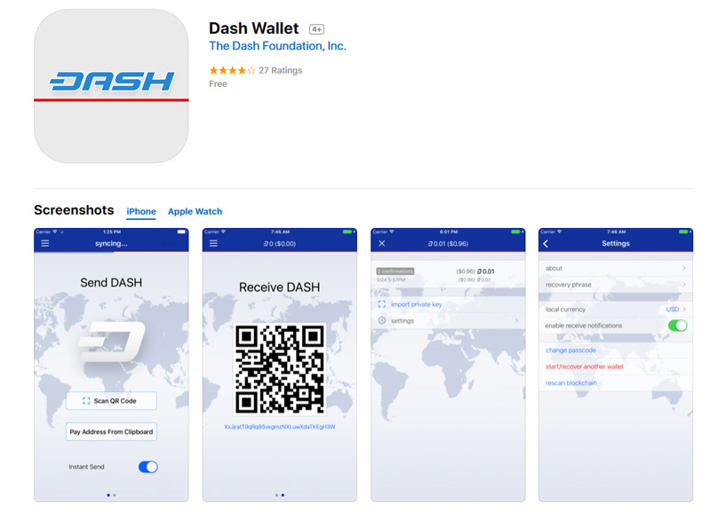 Dash iOS Wallet