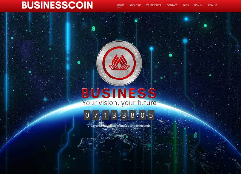 BusinessCoin Website