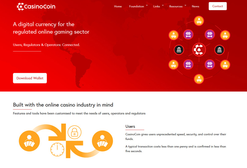 Casinocoin Website