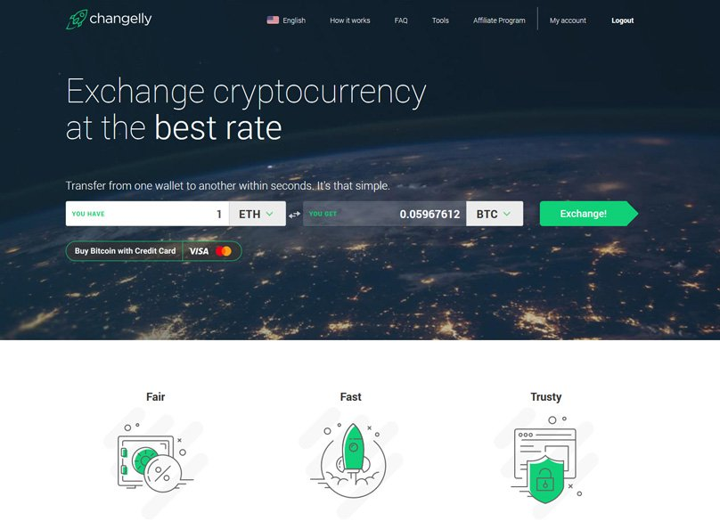 Changelly Website