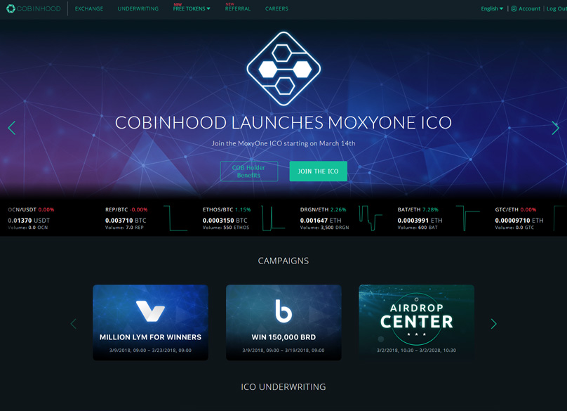 Cobinhood Website