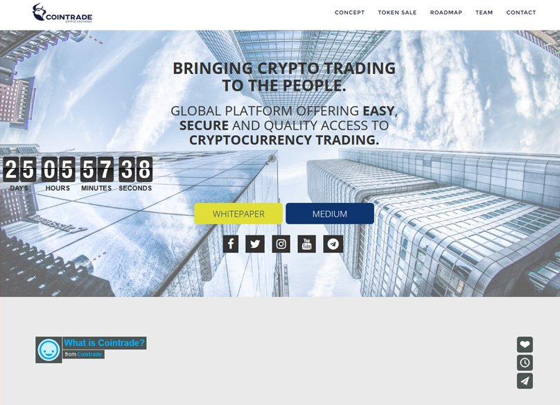 Cointrade Website