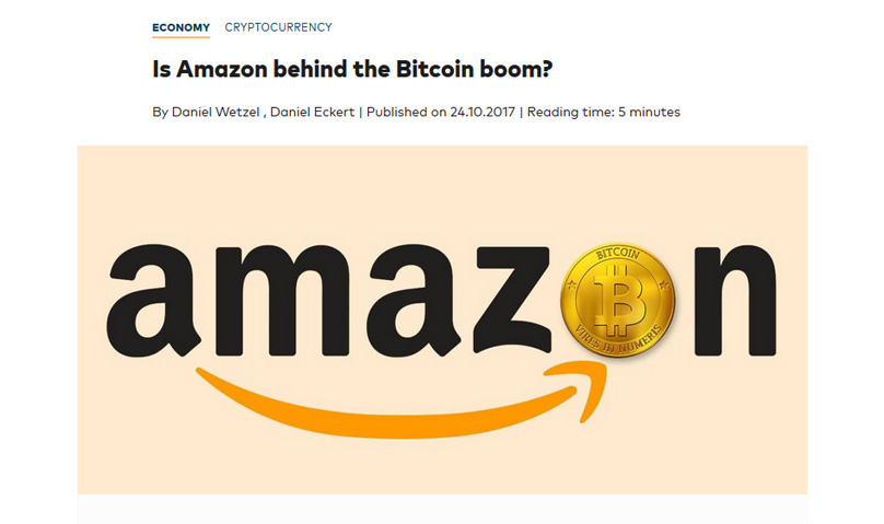 amazon to accept cryptocurrency