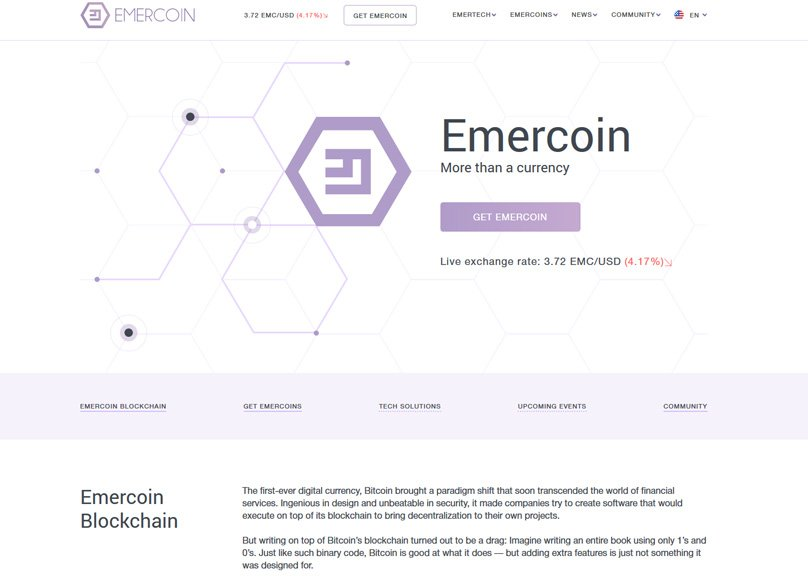 Emercoin Website