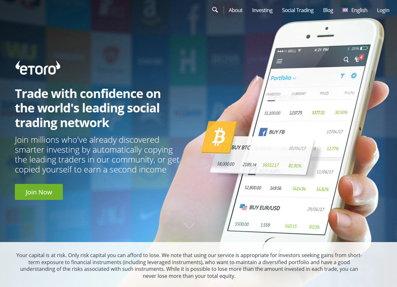 eToro Website