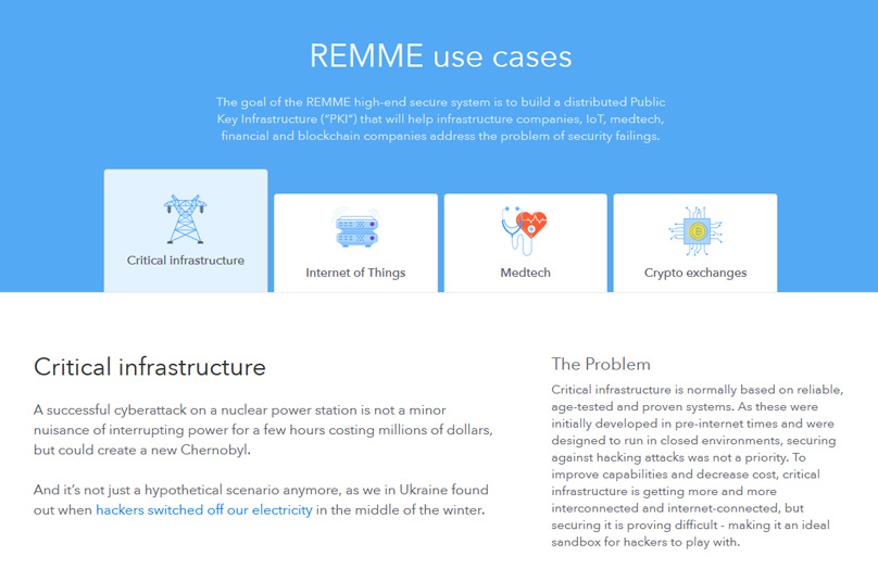REMME Use Cases