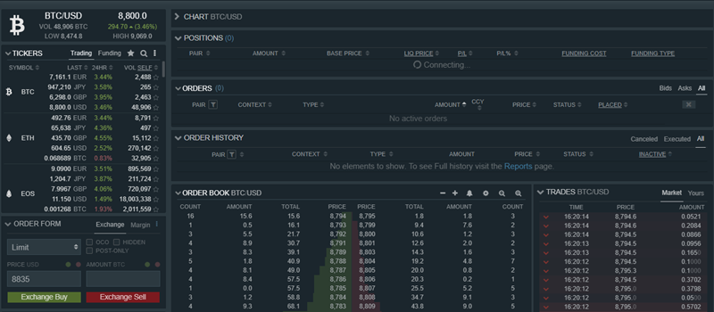 Side by Side Comparison of the Top Crypto Exchanges Trading Screens