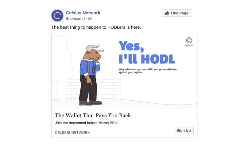 Celsius Facebook Advert