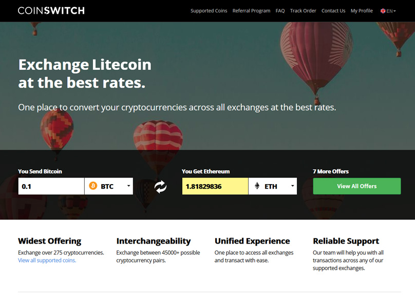 CoinSwitch Website