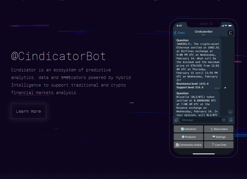Cindicator Bot