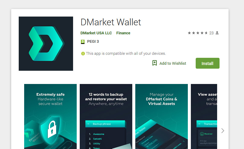 Dmarket Android Wallet
