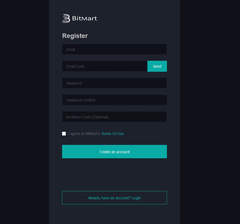 BitMart Registration