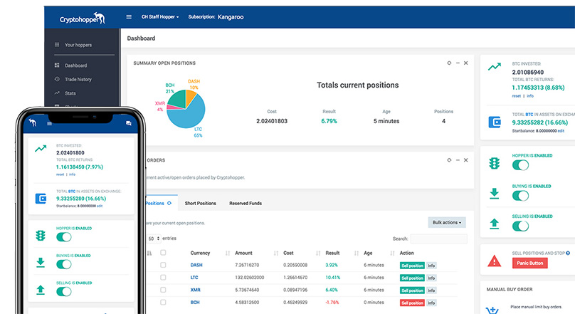 Cryptohopper Dashboard