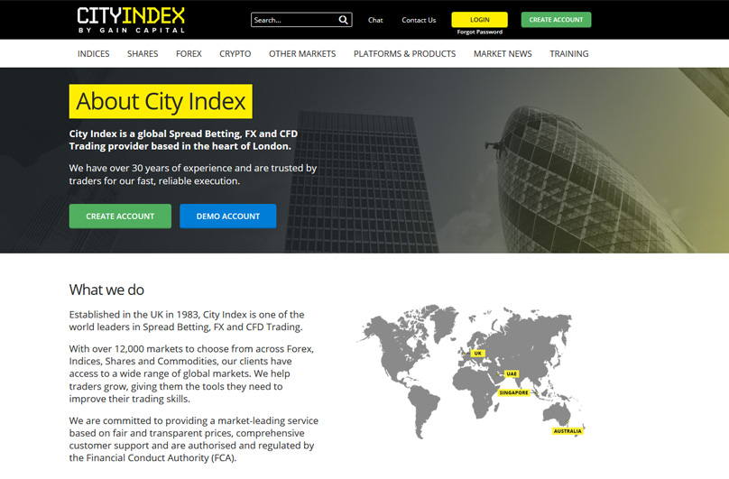 City index spread betting login to my facebook league betting