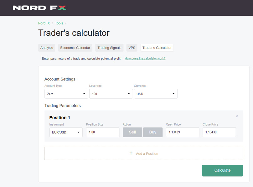 Traders Calculator