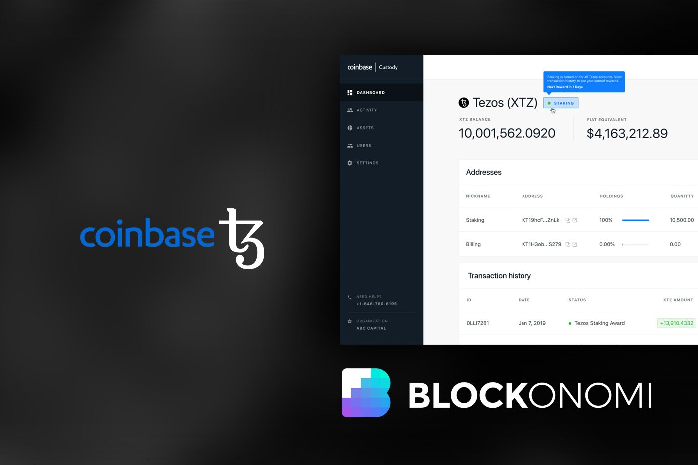 tron coinbase support