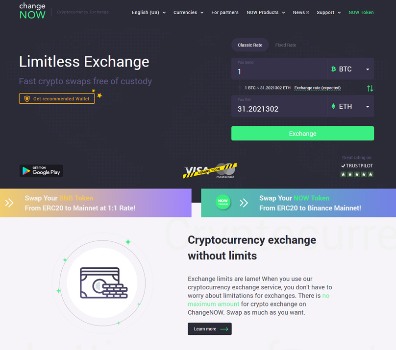 ChangeNOW Website