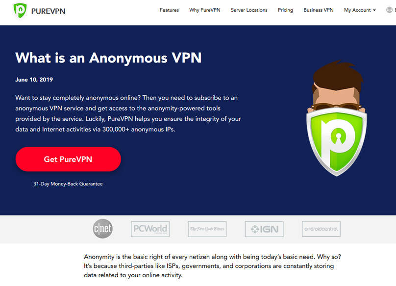 Pure VPN privacy