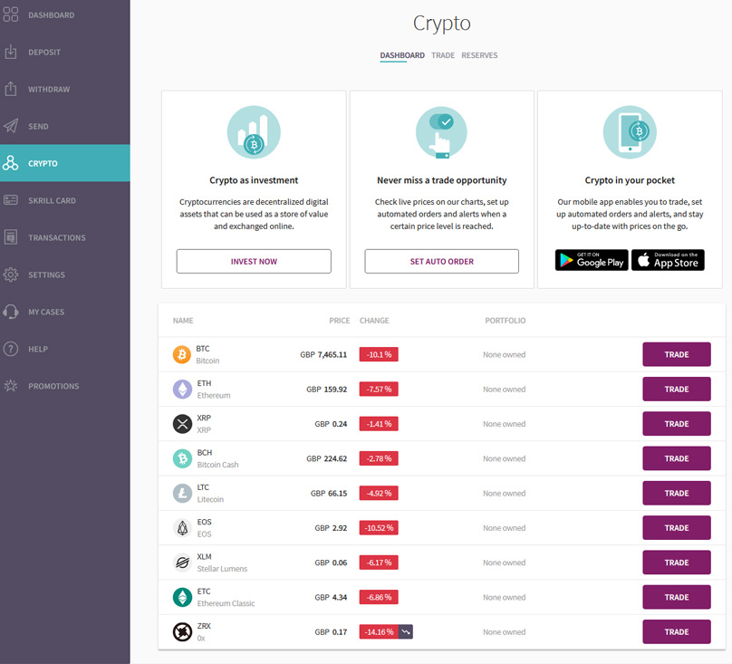 Skrill Cryptocurrency
