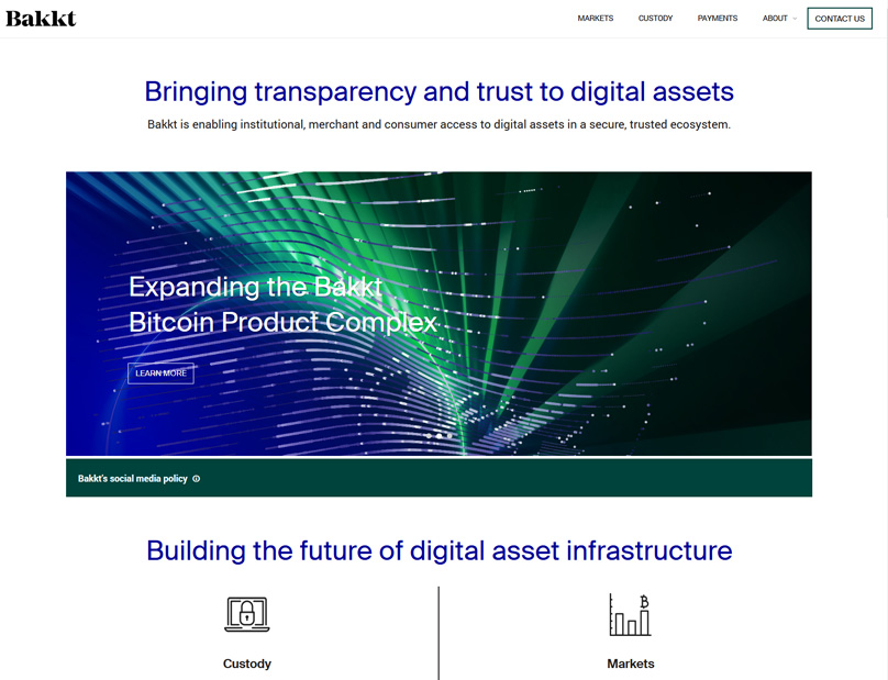 The Bakkt Website