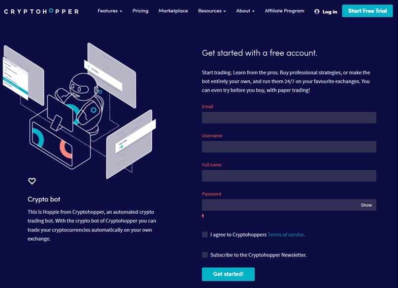Cryptohopper Signup