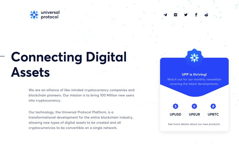Universal Protocol is an alliance of cryptocurrency companies and blockchain pioneers