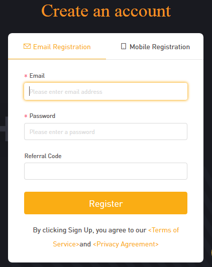 Bybit Registration