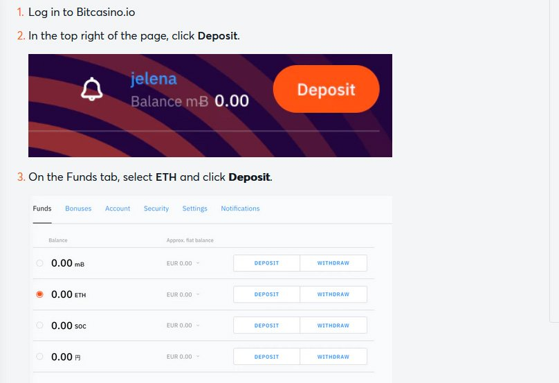 Crypto deposits are easy to make
