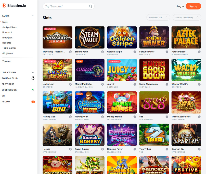 Some of the 95 slots games on offer