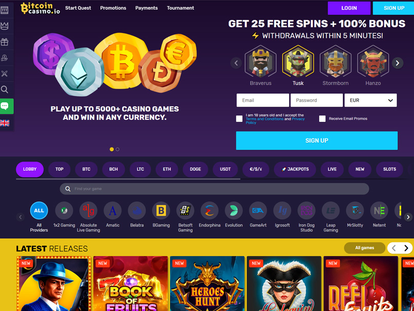 BitcoinCasino Review
