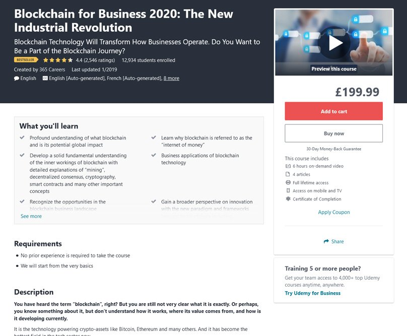 Blockchain for Business 2020: The New Industrial Revolution