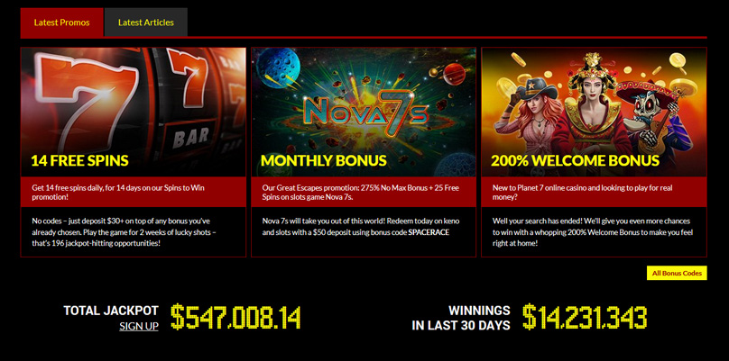 Planet 7 Casino Comp Points