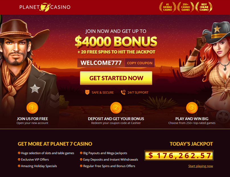 Planet 7 Casino Review Online Casino With 400 Bonus 20 Free Spins