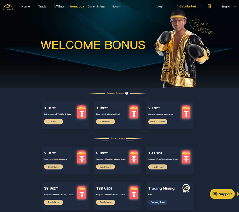 Welcome Bonuses on offer at Bityard