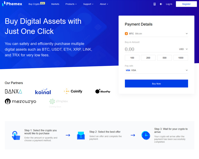 Buy Cryptocurrency with One Click