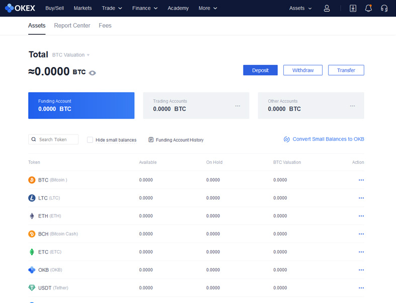 The OKEx Wallet