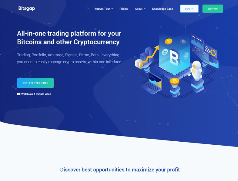 Bitsgap All-in-one trading platform