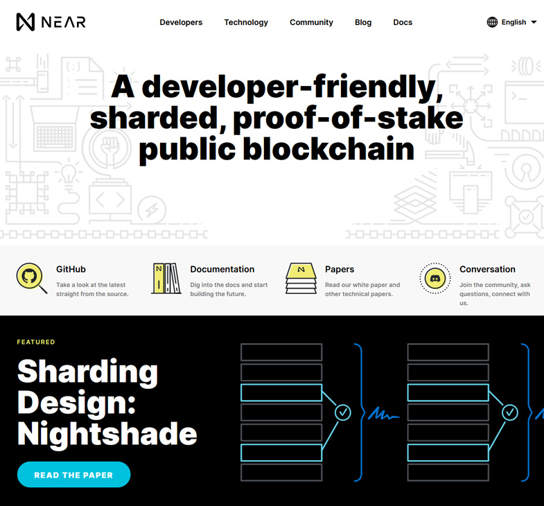 sharded, proof-of-stake public blockchain